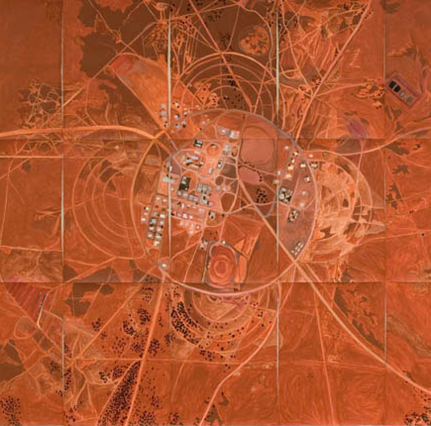 Jan Svenungsson, A Place on Earth, acrylic on 21 Arches Aquarelle paper, overall size ca 230 x 390 cm, 2007 (Ausschnitt)