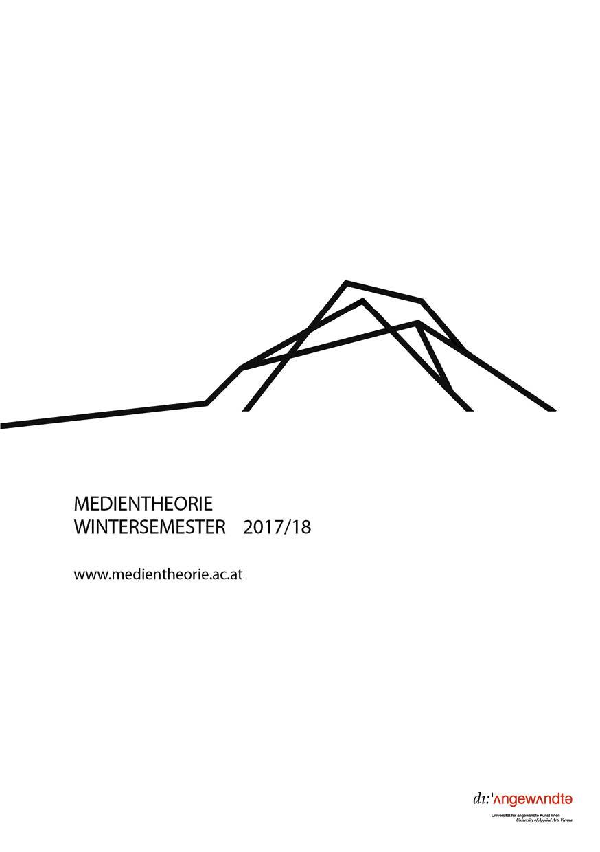 Vorlesungsverzeichnis Wintersemester 2017/2018